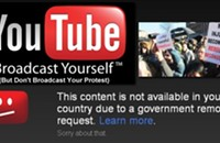 YouTube to world governments: Whatever you say, Sir