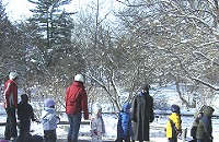 12/18 -- Beer and snacks at the Morton Arboretum