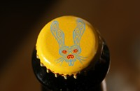 5 Rabbit bottles dessert with the 'albino stout' Arroz con Leche
