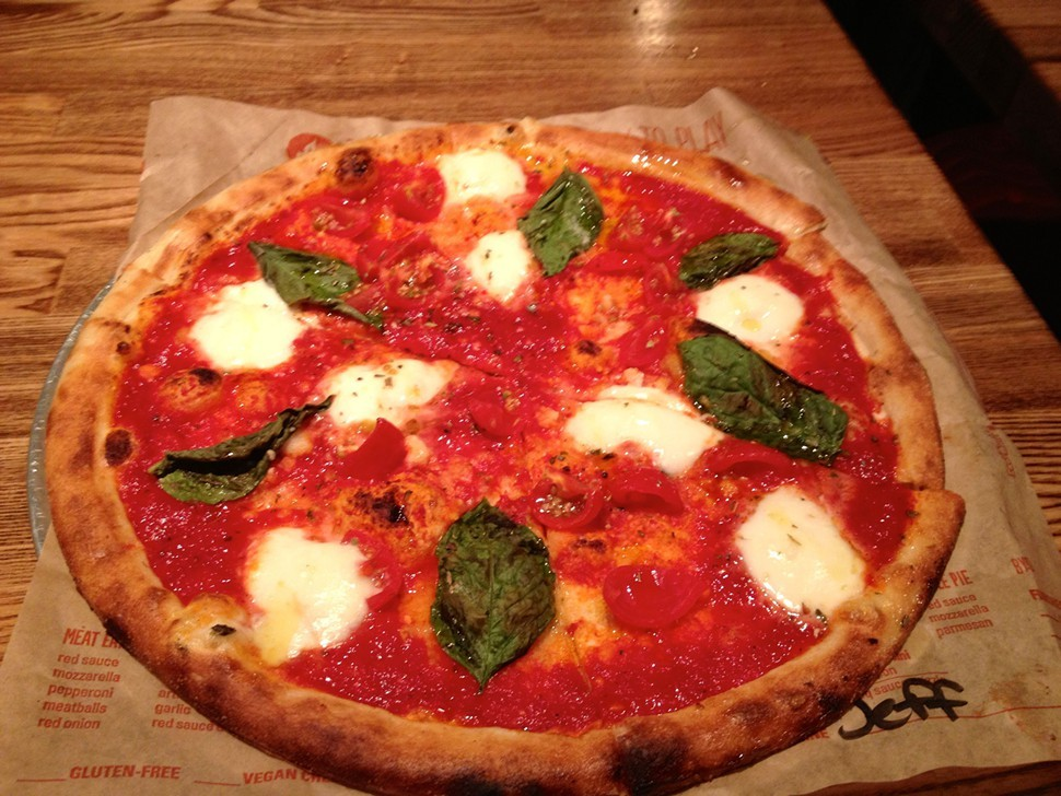 A Blaze pizza in all its glory.