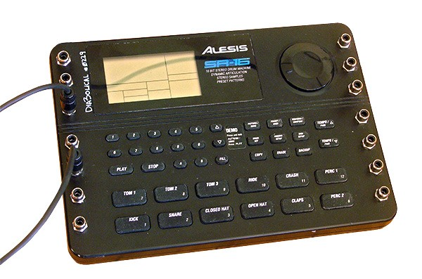 A circuit-bent Alesis SR-16 drum machine - PHILIP MONTORO