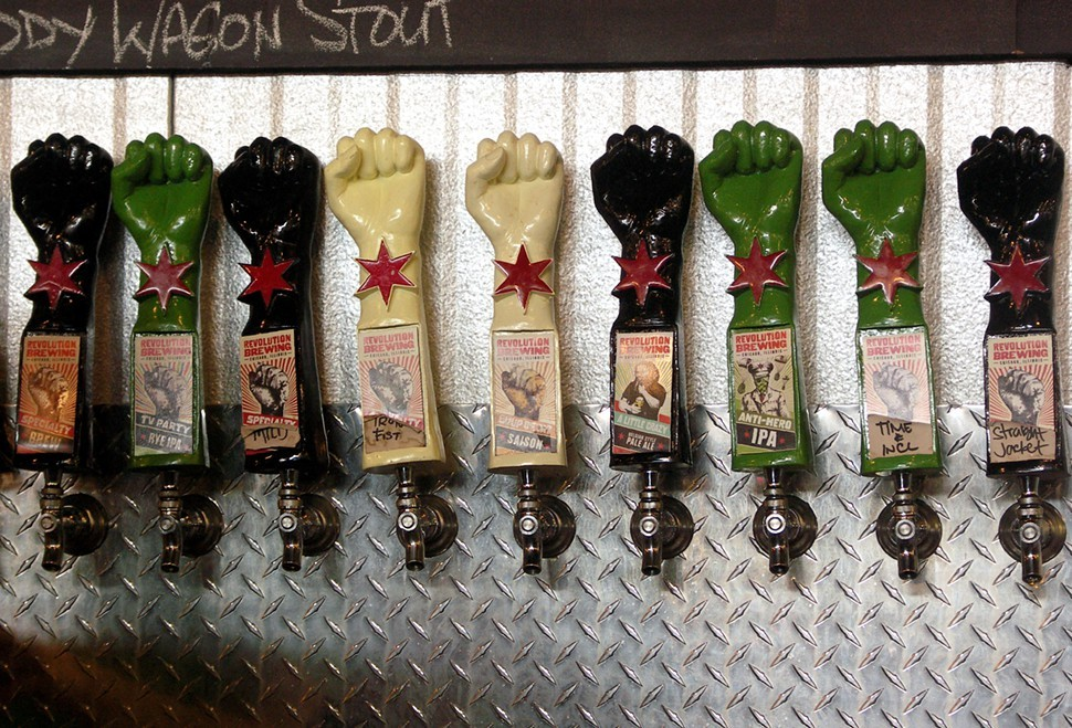 A few of the taps at Revolutions 4th Year Crazy Party