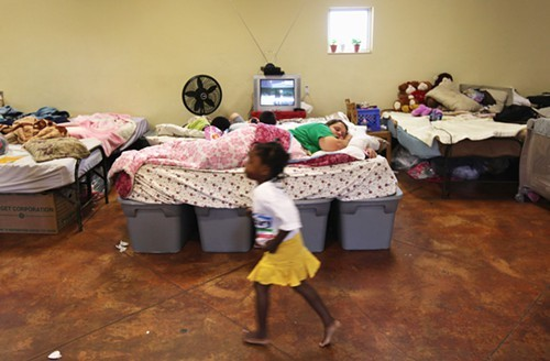 A homeless shelter in Ft. Worth, Texas. A New York Times series reminds us that many of the homeless are children.