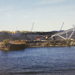 A KCBX Terminals Co. storage site for coal and petroleum coke along the Calumet River