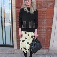 A Marc Jacobs shopgirl connects the polka dots