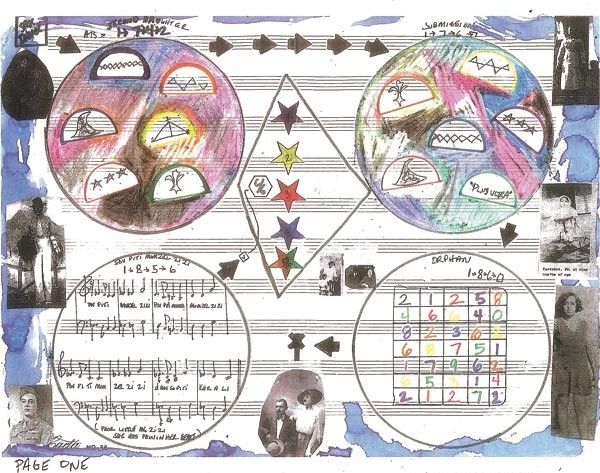 A page of the graphic score to Coin Coin