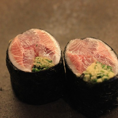 A sneak peek at what comes from the sushi chef's knife at Momotaro