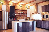 A Wicker Park condo's barn-inspired kitchen