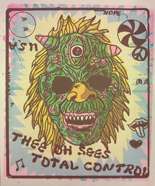 A William Keihn poster for Thee Oh Sees and Total Control - WILLIAM KEIHN