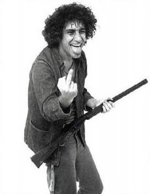 Abbie Hoffman in rabble-rousing mode