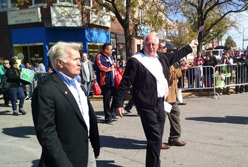 Actor Martin Sheen and Governor Pat Quinn lead the annual Houby Day parade in Cicero last weekend.