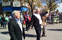 Governor Quinn on parade . . . with Martin Sheen
