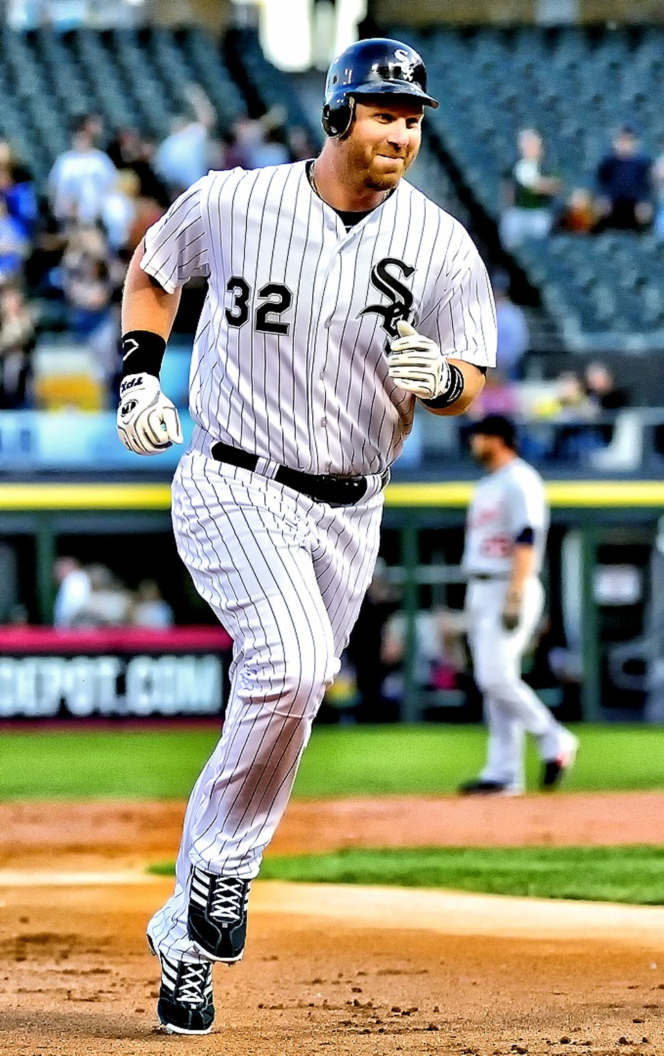 Adam Dunn and the White Sox trot smiling into the second half.
