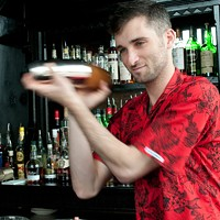 Danny Shapiro of Scofflaw makes a Poopsicle Add ice and shake vigorously. Andrea Bauer