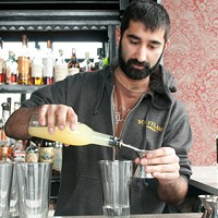 Step-by-step instructions for making Scofflaw bartender Uby Khawaja's Tomfoolery Add three quarters of an ounce of freshly squeezed lemon juice. Andrea Bauer