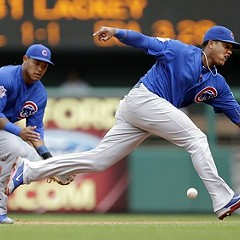 Addison Russell and Starlin Castro