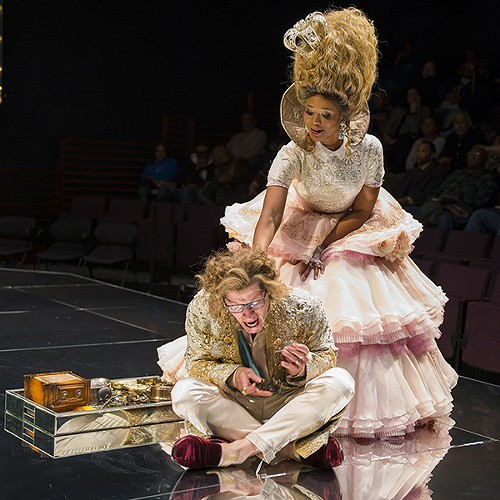 Alana Arenas with Tim Hopper as Louis XVI