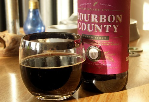All the Bourbon County stouts look the same, with one exception (see below). So this picture of Backyard Rye will do.
