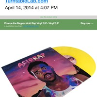 Chance the Rapper's <i>Acid Rap</i> gets bootlegged again, this time on vinyl