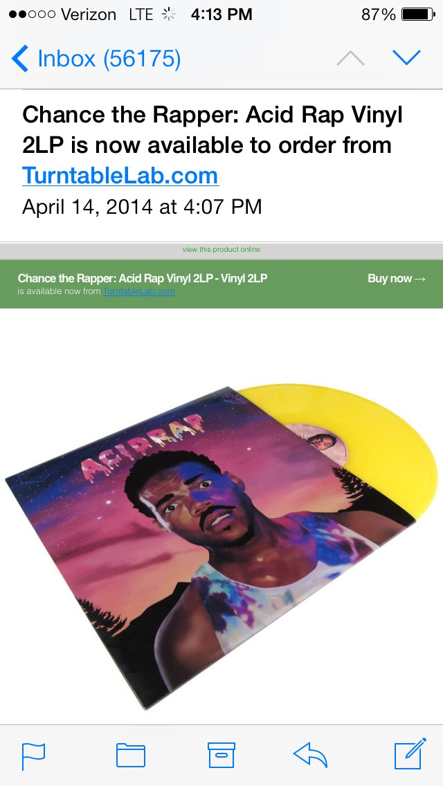An e-mail alert for the unlicensed version of Acid Rap