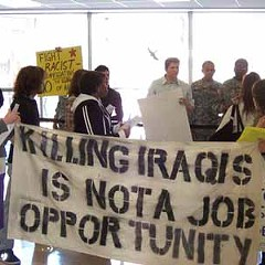 An NEIU student protest in 2007