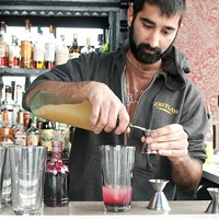Step-by-step instructions for making Scofflaw bartender Uby Khawaja's Tomfoolery And half an ounce of ginger liqueur (Scofflaw makes its own). Andrea Bauer