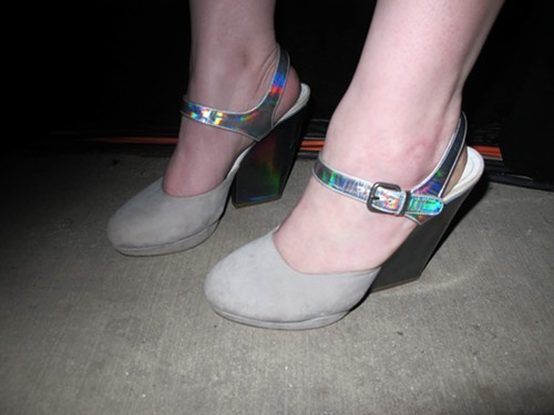 ...and holographic shoes