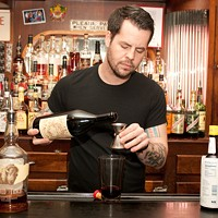 Bradley Bolt of Bar DeVille makes the Blind of Eye And three quarters of an ounce of Carpano Antica vermouth. Andrea Bauer