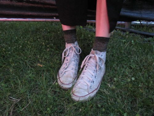 And to finish this post, more socks. The style stars of this years Pitchfork.