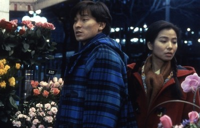 Andy Lau (left) goes flower shopping in Tokyo.