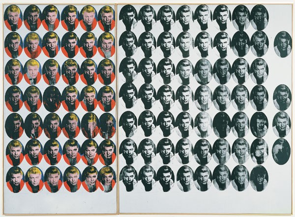 Andy Warhol, Troy Diptych, 1962. Collection Museum of Contemporary Art Chicago, gift of Mrs. Robert B. Mayer. - COURTESY MCA