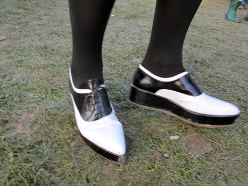 Angelas fab pointy oxfords/creepers weren't even muddy!