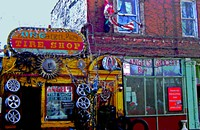 Angel's Tire Shop is Pilsen's most eye-popping attraction