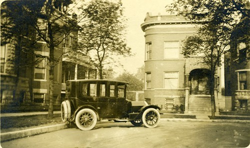 Another photo Schneider believes was taken in 1915, this showcases a home on the southwest corner of Logan Square.