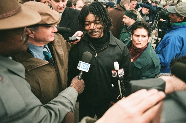 Anthony Porter upon his 1999 release from death row - SUN-TIMES ARCHIVES