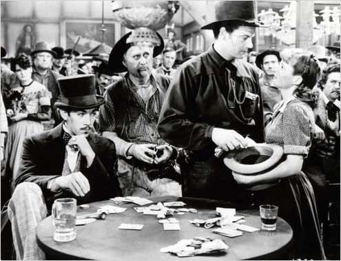 Anthony Quinn (far left) and Barbara Stanwyck (far right) in Union Pacific, screening Wednesday at 7 PM