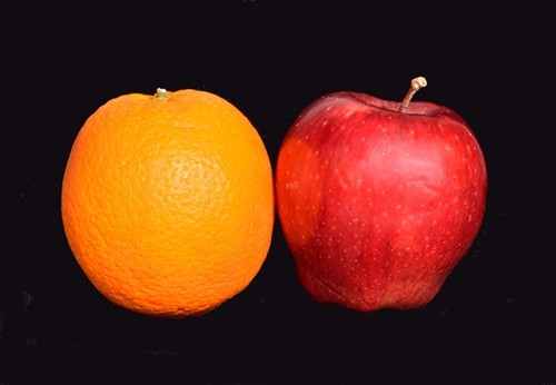 Apples and oranges?