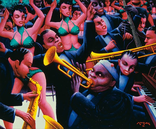 Archibald Motley's Hot Rhythm (1961), one of the painter's Bronzeville scenes