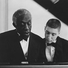 Art Blakey with a very young Benny Green (right)