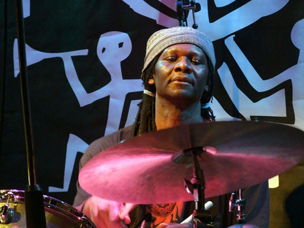 Artist in residence Hamid Drake leads a different band on each of the festival's four days. - LAUREN DEUTSCH