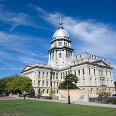As it turns out, I don't have any idea how to illustrate a column like this. So here's a stock photo of the Illinois statehouse in Springfield.