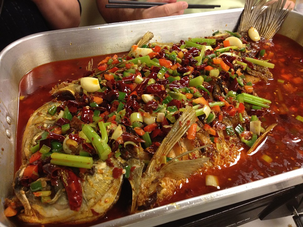 Asian carp hot pot
