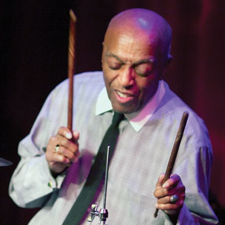 Ask a Roy Haynes a question at a discussion at the Apple Store on Thursday