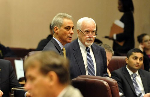 At least one person in this photo has a definite challenger (hint: its Alderman Pat OConnor).
