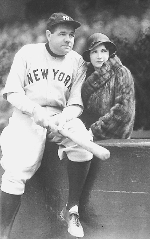 Babe Ruth and his wife, Claire, captured by famed baseball photographer George Brace.