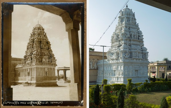 Balaji Temple in 1945 and 2014 - COURTESY JERRI ZBIRAL AND ALAN TELLER