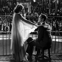 Barbara Stanwyck and David Manners star in Capra's The Miracle Woman, which screens at the Music Box this weekend.