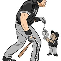 """""""Batting cleanup for the White Sox, hitting .163..."""""""