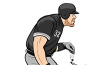 """Batting cleanup for the White Sox, hitting .163..."""