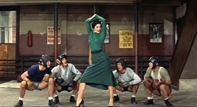 Because I cant think of an appropriate image for this story, enjoy this still of Cyd Charisse in Its Always Fair Weather.